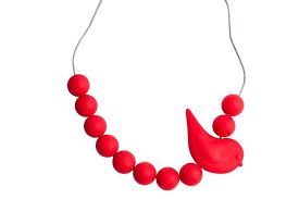 Songbird Necklace, Scarlet Red